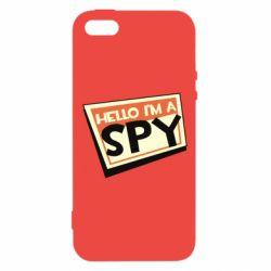 Чохол для iphone 5/5S/SE Hello i'm a spy