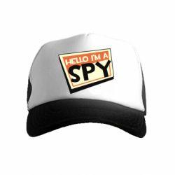 Дитяча кепка-тракер Hello i'm a spy