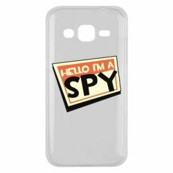 Чохол для Samsung J2 2015 Hello i'm a spy