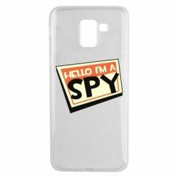 Чохол для Samsung J6 Hello i'm a spy