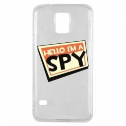 Чохол для Samsung S5 Hello i'm a spy