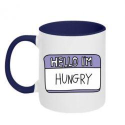Кружка двоколірна 320ml Hello, I'm hungry