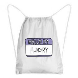 Купить Рюкзак-мешок Hello, I'm hungry, FatLine