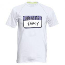 Чоловіча спортивна футболка Hello, I'm hungry