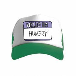 Дитяча кепка-тракер Hello, I'm hungry