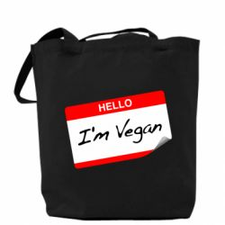 Сумка Hello, I'm Vegan
