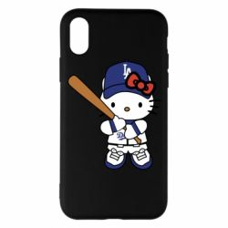 Чохол для iPhone X/Xs Hello Kitty baseball