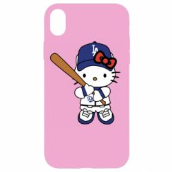 Чохол для iPhone XR Hello Kitty baseball