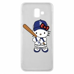 Чохол для Samsung J6 Plus 2018 Hello Kitty baseball