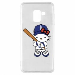 Чохол для Samsung A8 2018 Hello Kitty baseball