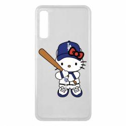 Чохол для Samsung A7 2018 Hello Kitty baseball