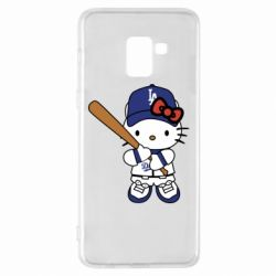 Чохол для Samsung A8+ 2018 Hello Kitty baseball