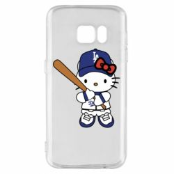 Чохол для Samsung S7 Hello Kitty baseball