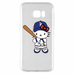 Чохол для Samsung S7 EDGE Hello Kitty baseball