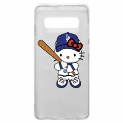 Чохол для Samsung S10+ Hello Kitty baseball