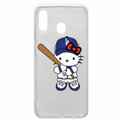 Чохол для Samsung A20 Hello Kitty baseball