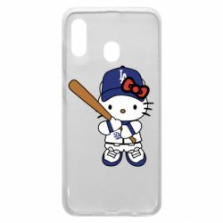 Чохол для Samsung A30 Hello Kitty baseball