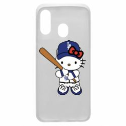 Чохол для Samsung A40 Hello Kitty baseball