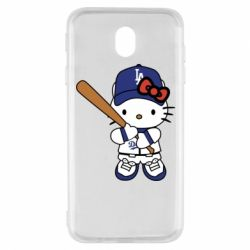 Чохол для Samsung J7 2017 Hello Kitty baseball