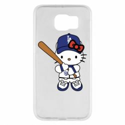 Чохол для Samsung S6 Hello Kitty baseball