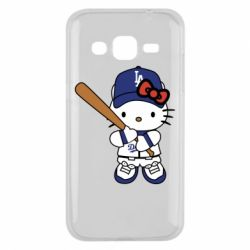 Чохол для Samsung J2 2015 Hello Kitty baseball