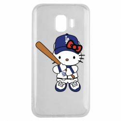 Чохол для Samsung J2 2018 Hello Kitty baseball