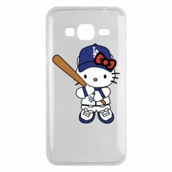 Чохол для Samsung J3 2016 Hello Kitty baseball