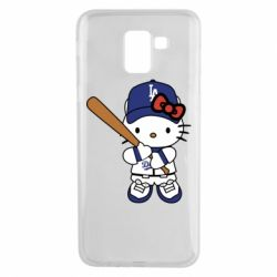 Чохол для Samsung J6 Hello Kitty baseball