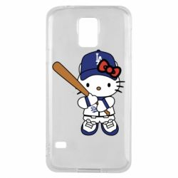 Чохол для Samsung S5 Hello Kitty baseball