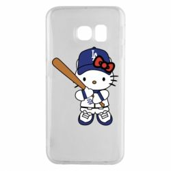 Чохол для Samsung S6 EDGE Hello Kitty baseball