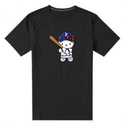 Чоловіча стрейчева футболка Hello Kitty baseball