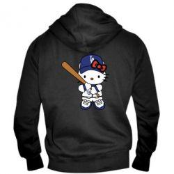 Чоловіча толстовка на блискавці Hello Kitty baseball