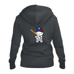 Жіноча толстовка на блискавці Hello Kitty baseball