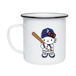 Кружка емальована Hello Kitty baseball