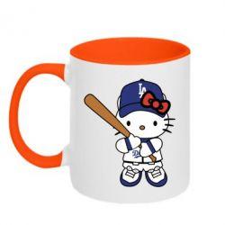 Кружка двоколірна 320ml Hello Kitty baseball