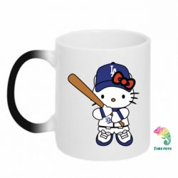 Кружка-хамелеон Hello Kitty baseball