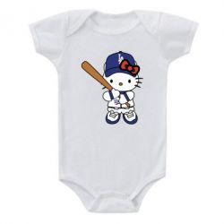 Дитячий бодік Hello Kitty baseball