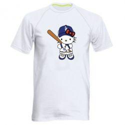Чоловіча спортивна футболка Hello Kitty baseball