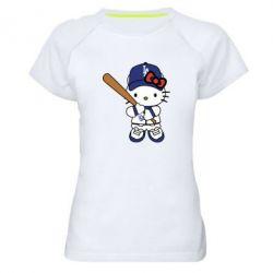 Жіноча спортивна футболка Hello Kitty baseball