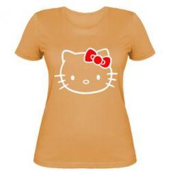 Женская футболка Hello Kitty logo