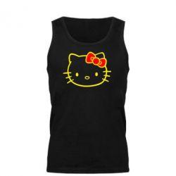 Мужская майка Hello Kitty logo - FatLine