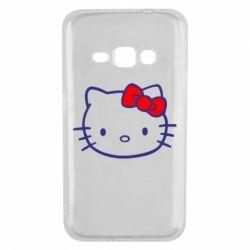 Чехол для Samsung J1 2016 Hello Kitty logo