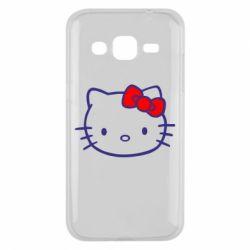 Чехол для Samsung J2 2015 Hello Kitty logo