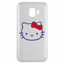 Чехол для Samsung J2 2018 Hello Kitty logo