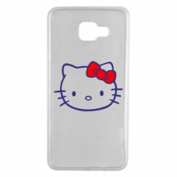 Чехол для Samsung A7 2016 Hello Kitty logo