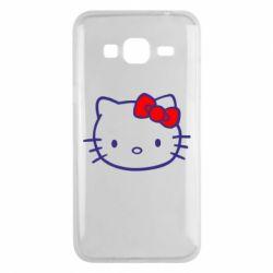 Чехол для Samsung J3 2016 Hello Kitty logo
