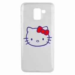 Чехол для Samsung J6 Hello Kitty logo