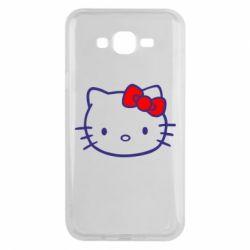 Чехол для Samsung J7 2015 Hello Kitty logo