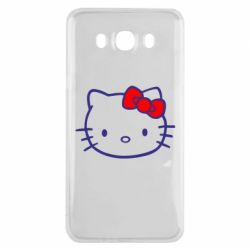 Чехол для Samsung J7 2016 Hello Kitty logo