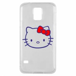 Чехол для Samsung S5 Hello Kitty logo